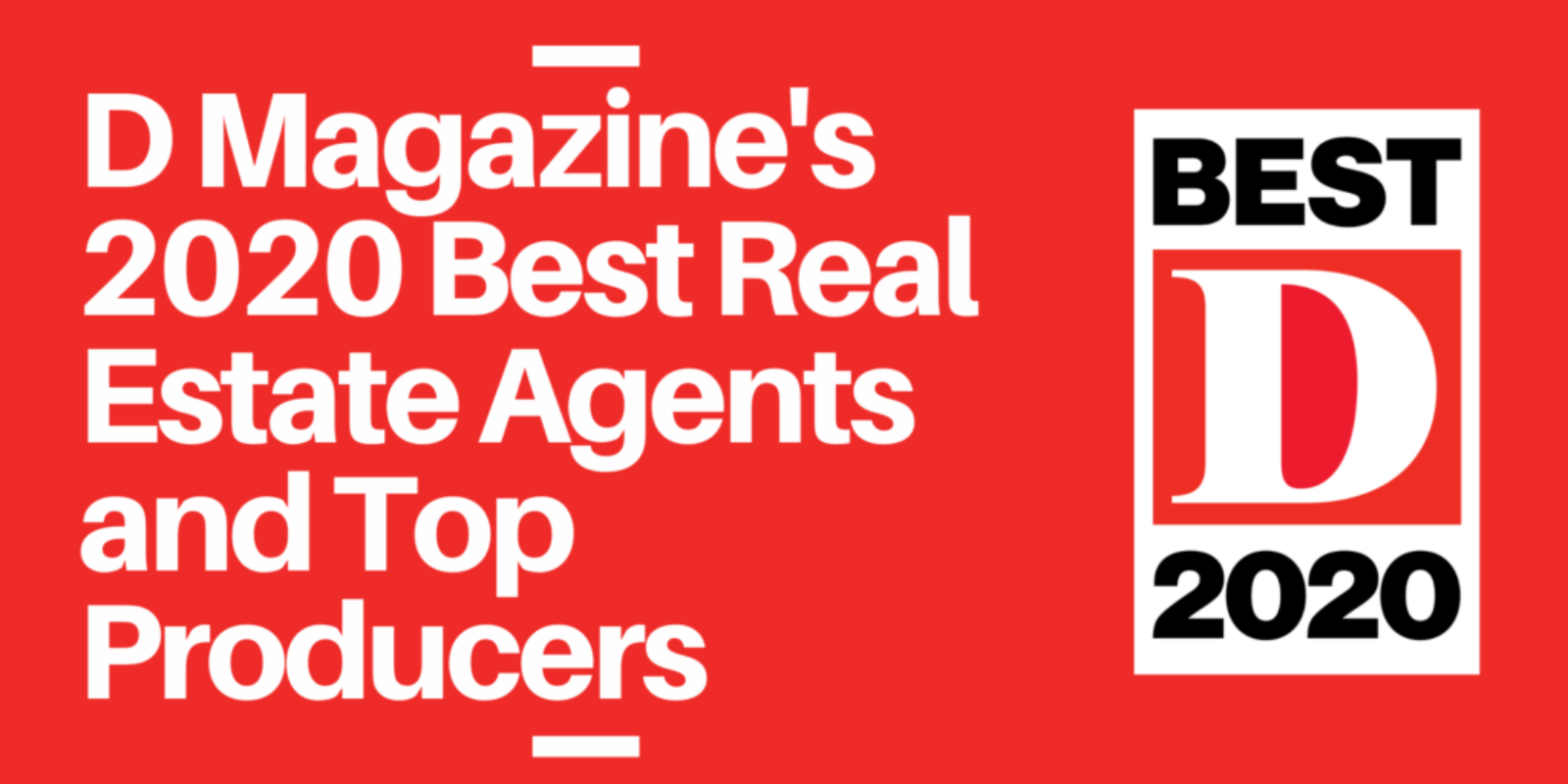 D Magazine's 2020 Best Real Estate Agents and Top Producers (1)